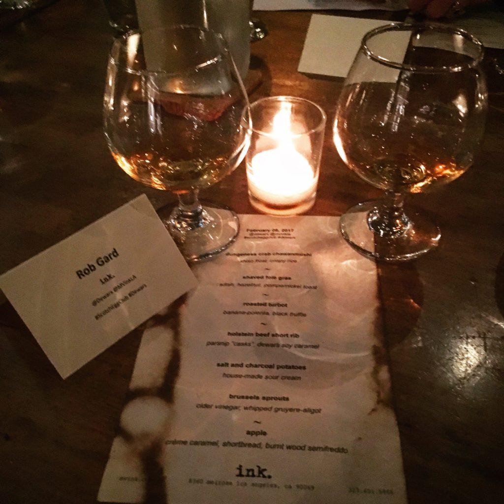 whisky events Dewars Ink Tasting Menu